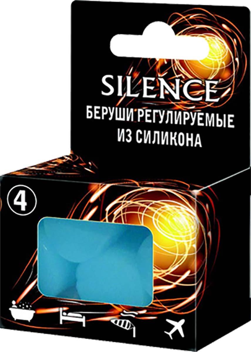 Silence Беруши Универсальные, 4 шт3623Беруши SILENCE регулируемые из силикона. Легко адаптируются к индивидуальной форме ушного канала. Изготовлены из высококачественного гипоаллергенного силикона. Можно использовать до тех пор, пока вкладышь не станет грязным или перестанет быть липким. Для гигиеничного хранения вкладышей между применениями следует использовать пластиковый контейнер. - надежно защищают ушной канал от попадания воды. Могут использоваться для плавания, а так же принятия душа, чтобы защитить ушной канал от раздражения или инфекции; - снижают уровень шума. Отличное средство для человека нуждающегося в отдыхе, а также для учащихся и людей, занятых умственным трудом, когда необходимо максимально сосредоточиться; - легко адаптируются к индивидуальной форме ушного канала; - обеспечивают надежную защиту органов слуха на шумных производствах; - защищают ушной канал от попадания пыли и песка при сильном ветре; - снижают дискомфорт во время авиаперелетов.