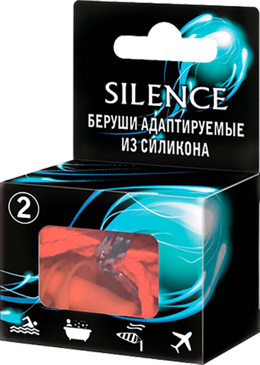 Silence Беруши Для плавания, со съемным шнурком, 2 шт3647Хорошо сохраняют форму, легко адаптируются к размерам слухового канала. Изготовлены из высококачественного гипоаллергенного силикона. Вкладыши являются многоразовыми и легко моются теплой водой с мылом. Для гигиеничного хранения вкладышей между применениями следует использовать пластиковый контейнер. - надежно защищают ушной канал от попадания воды при занятиях водными видами спорта. Могут использоваться во время принятия душа для защиты ушного канала от раздражения или инфекции; - снижают уровень шума. Отличное средство для человека нуждающегося в отдыхе, а также для учащихся и людей, занятых умственным трудом, когда необходимо максимально сосредоточиться; - обеспечивают надежную защиту органов слуха на шумных производствах; - защищают ушной канал от попадания пыли и песка при сильном ветре; - снижают дискомфорт во время авиаперелетов.