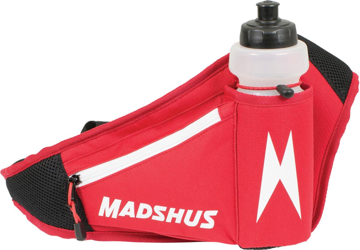 Сумка на пояс Madshus Drink Belt W/Bottle, с флягой, цвет: красныйN1650500Поясная сумка с флягой Madshus Drink Belt W/Bottle выполнена из плотного полиэстера. Изделие на застежке-молнии. Фляга расположена под наклоном для быстрого доступа, есть маленький карман для ключей.Как начать бегать: советы тренера. Статья OZON Гид