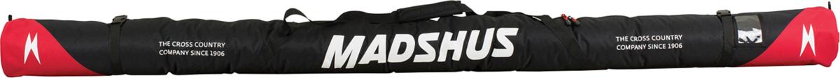 Чехол для беговых лыж Madshus Cross country Ski, цвет: черный. N1650506N1650506Вместительный чехол Madshus Cross country Ski вмещает до двух пар беговых лыж. Модель выполнена из прочного водонепроницаемого полиэстера. Для удобства переноски предусмотрены ремни, фиксирующие чехол, и практичная ручка.