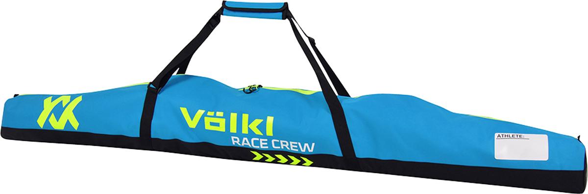 Чехол для горных лыж Volkl Race Single Ski Bag, цвет: голубой. 168513168513Удобный и практичный чехол от Volkl, в который помещается одна пара лыж.
