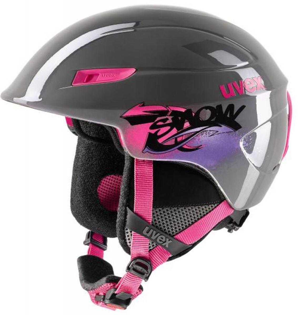 Шлем горнолыжный Uvex U-kid Kid's, цвет: серый. Размер 46-51 uvex маски горнолыжные