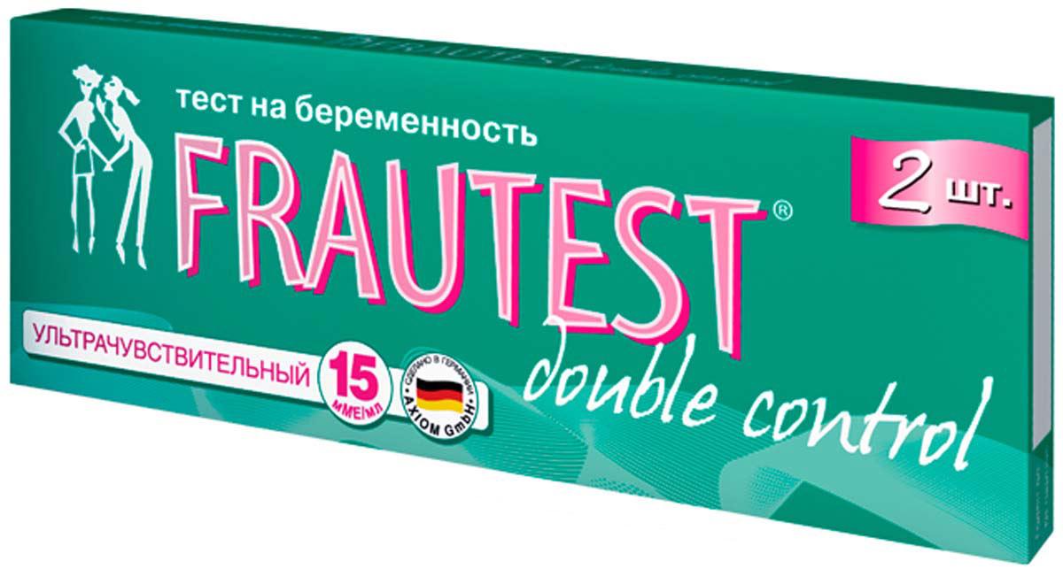 Frautest Тест на определение беременности Double Control, тест-полоски, 2 шт тест frautest на овуляцию n5 frautest test