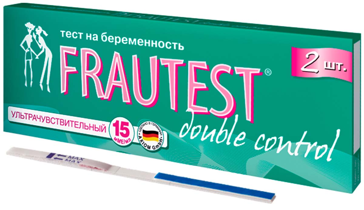 FrautestТест на определение беременности Double Control, тест-полоски, 2 шт Frautest