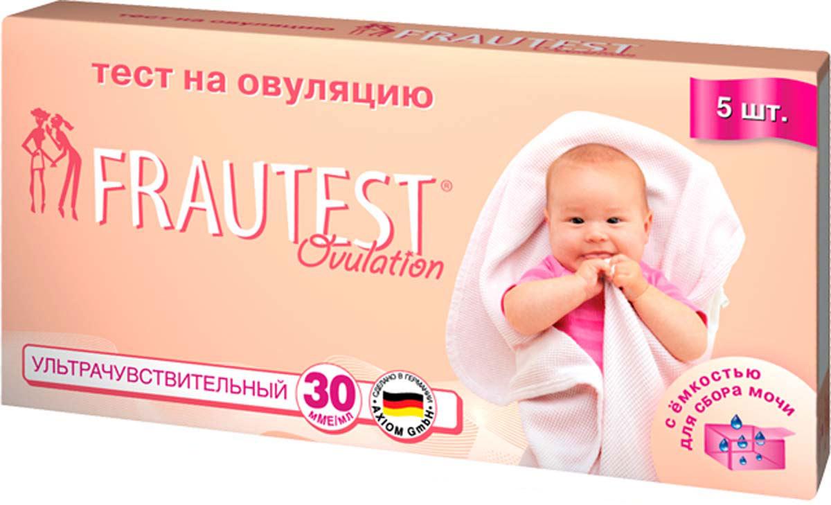 Frautest Тест на определение овуляции Ovulation, тест-полоски, 5 шт