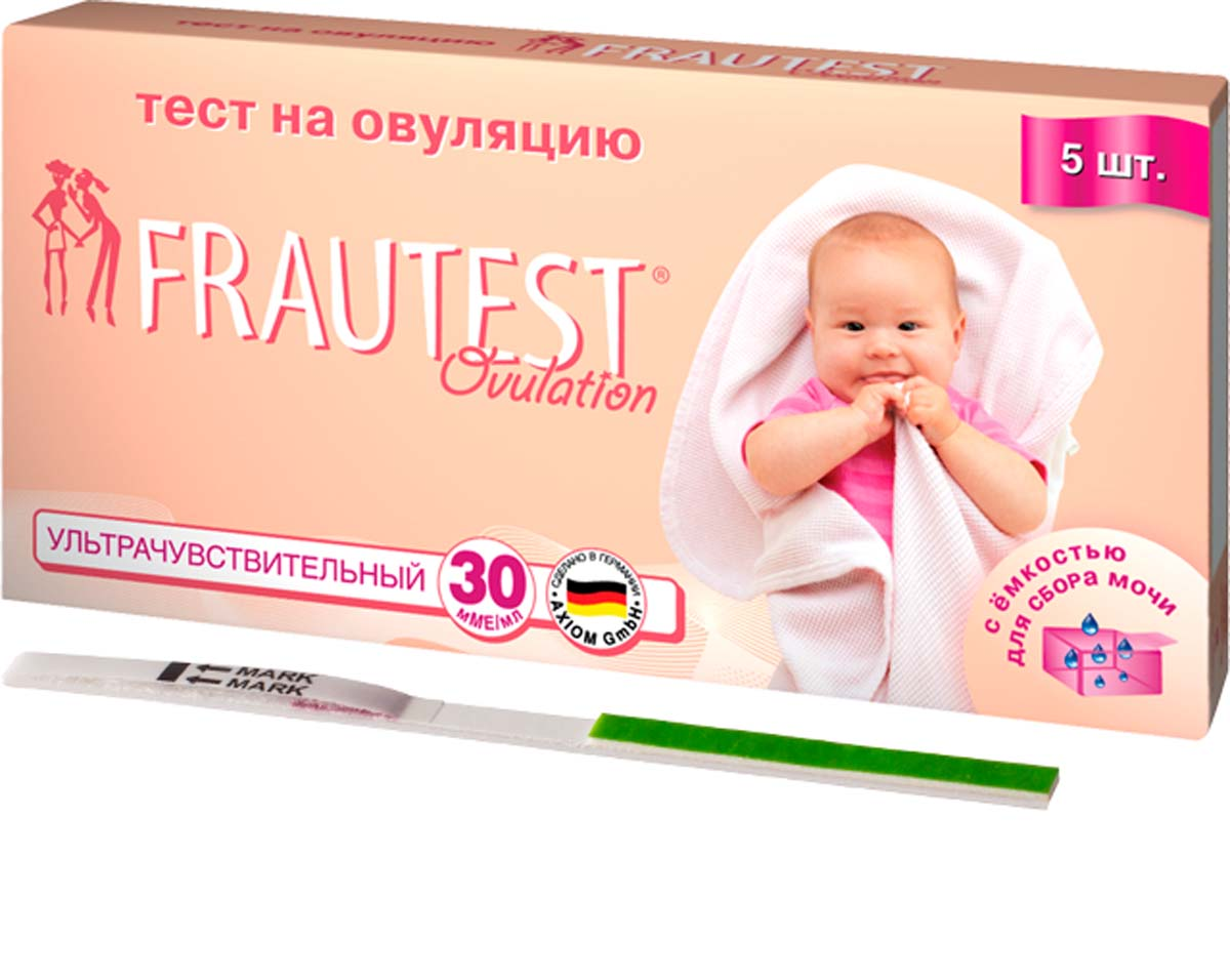 FrautestТест на определение овуляции Ovulation, тест-полоски, 5 шт Frautest