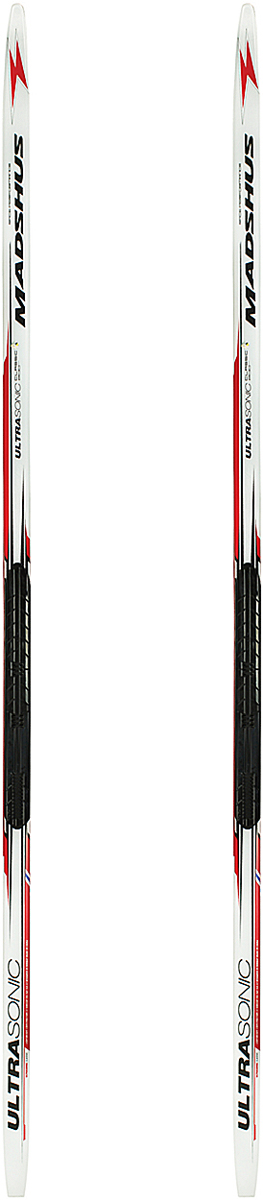 Лыжи беговые Madshus Ultrasonic Classic Skis NIS, цвет: белый, рост 190 смN16342Беговые лыжи Madshus Ultrasonic Classic Skis NIS обладают сердечником из адамова дерева, армированного карбоном. Это идеальные сверхлегкие гоночные лыжи для начинающего спортсмена, спроектированные на базе сердечника из адамова дерева, армированного карбоном. Специально спроектированная геометрия бокового выреза обеспечивает послушную управляемость, а сбалансированное распределение жесткости в сочетании с продуманным весовым прогибом дают уверенное держание при отталкивании. Скользящая поверхность гоночного уровня P-Tex 2000 Electra Sintered обеспечивает быстрое и плавное скольжение. Боковой вырез: 44-42-43мм. Вес: 1150г/190см. Как выбрать беговые лыжи. Статья OZON Гид