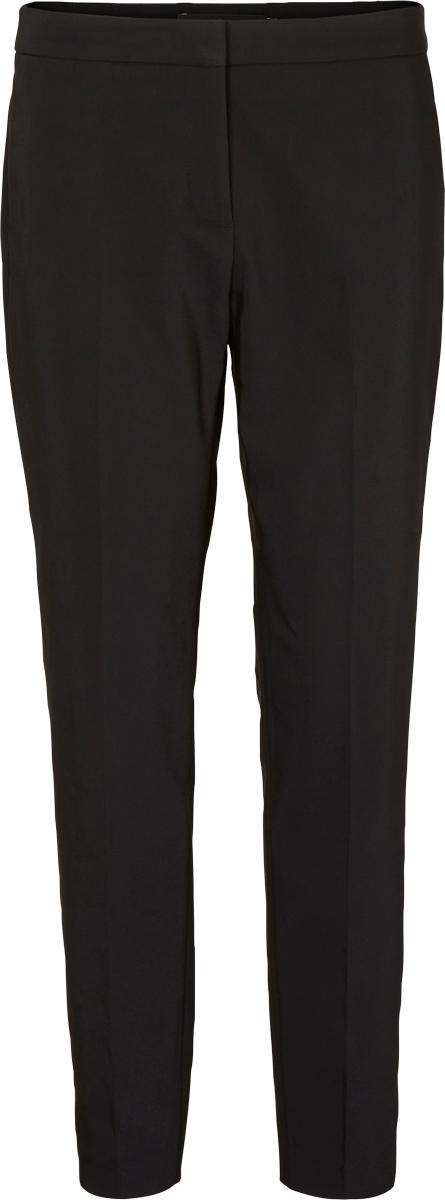 Брюки женские Vero Moda, цвет: черный. 10186471_Black. Размер 42 (48)10186471_BlackКлассические женские брюки от Vero Moda со стрелками выполнены из высококачественного материала. Модель зауженного кроя в поясе застегивается на брючный крючок и пуговицу, имеет ширинку на молнии.