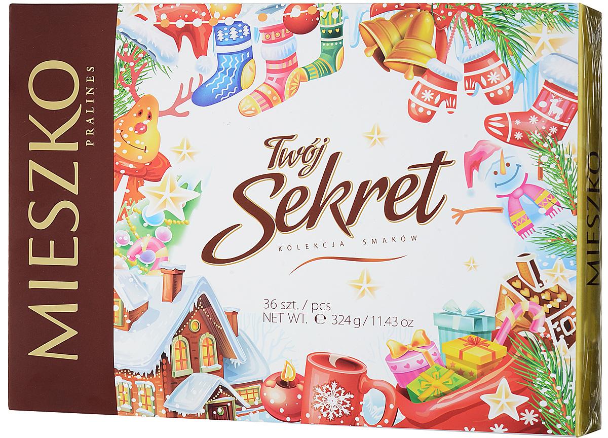Mieszko Твой Секрет набор шоколадных конфет, 324 г шоколадные годы конфеты ассорти 190 г