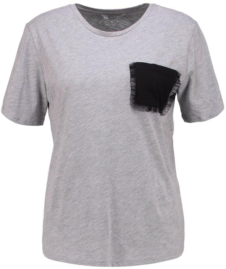 Футболка женская Only, цвет: серый. 15152454. Размер M (44) куртка женская only цвет черный 15140836