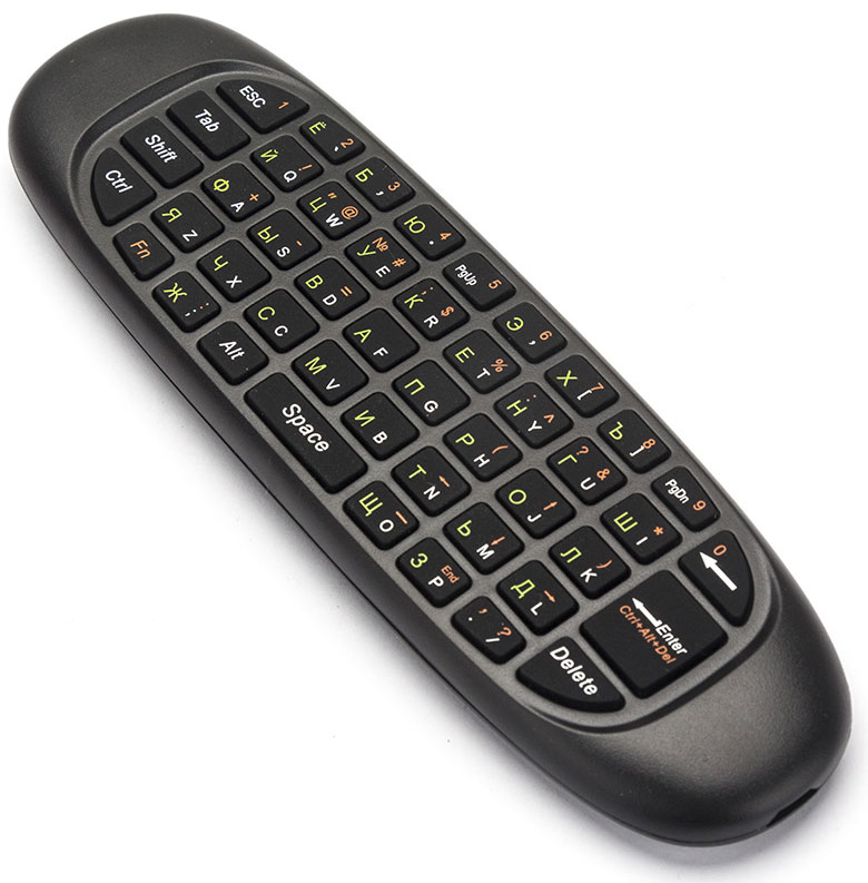 Invin I10, Black комплект мышь + клавиатура4631140471328Пульт с гироскопом + клавиатура INVIN I10 заменит вам 5 устройств: пульт ДУ, мышь, клавиатуру, игровой джойстик, гироскопический джойстик. Совместимость: Windows, Mac OS, Linux, Android