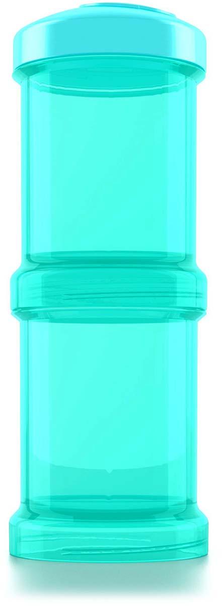 Twistshake Контейнер для сухой смеси Sleepyhead цвет бирюзовый 100 мл 2 шт