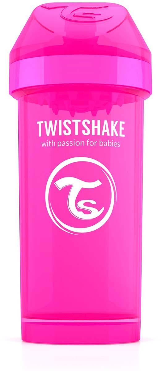 Twistshake Поильник Kid Cup Crazymonkey цвет розовый 360 мл -  Поильники