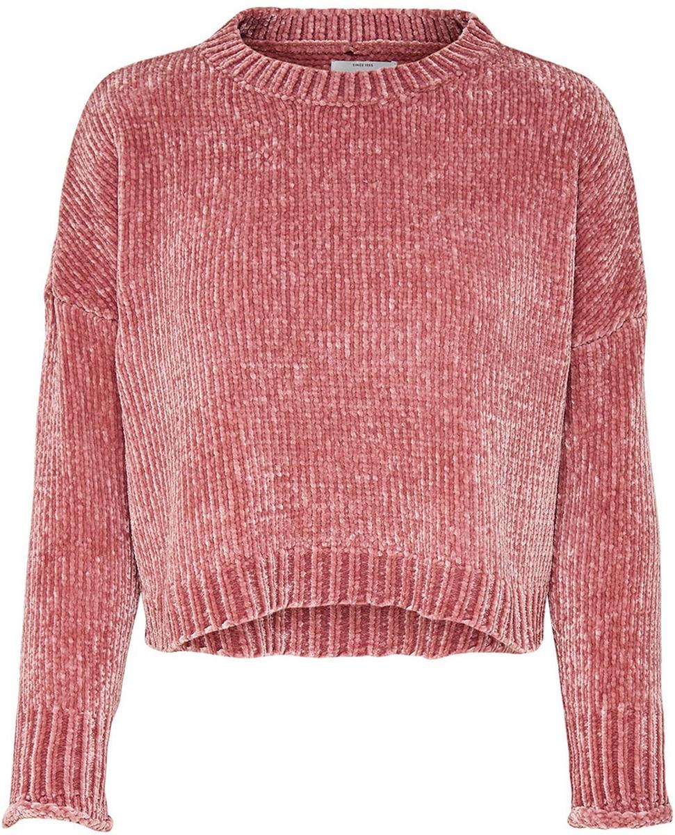 Пуловер женский Only, цвет: розовый. 15141692_Rose Dawn. Размер M (46)15141692_Rose DawnЖенский укороченный пуловер от Only выполнен из высококачественной пряжи. Модель с длинными рукавами со спущенным плечом и круглым вырезом горловины.