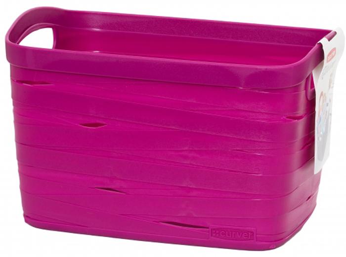 Корзина для белья Curver Ribbon, цвет: фиолетовый, 27 x 21 x 17 см