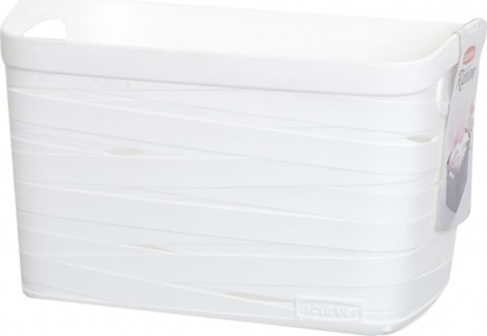 Корзина для белья Curver Ribbon, цвет: белый, 27 x 21 x 17 см00718-X07Корзина для белья Curver Ribbon изготовлена из прочного цветного пластика. Она отлично подойдет для хранения белья, вещей и мелочей.