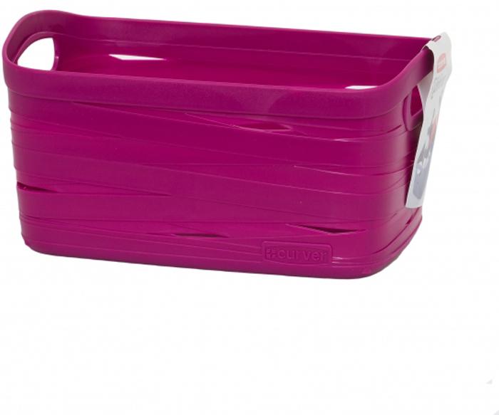 Корзина для белья Curver Ribbon, цвет: фиолетовый, 24 x 17 x 12 см00728-437Корзина для белья Curver Ribbon изготовлена из прочной цветной пластмассы. Она отлично подойдет для хранения белья, вещей и мелочей.