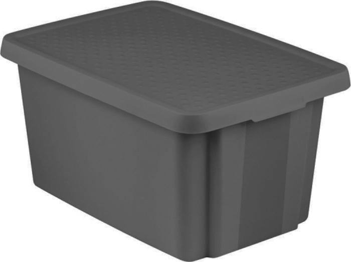 Коробка для хранения Curver Essentials, с крышкой, цвет: черный, 45 л серьги taya taya mp002xw0xjrb