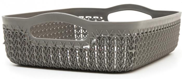 Лоток Curver Knit, цвет: темно-коричневый, 2,6 л00771-X59-00Универсальная лоток Curver Knit изготовлен извысококачественного пластика и оформлен декоративной перфорацией подплетение. Для дополнительного удобства изделие имеет удобные ручки.Такой лоток непременно пригодится в быту, в нем можно хранить разные принадлежности и аксессуары.