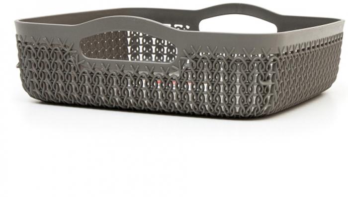 Лоток Curver Knit, цвет: темно-коричневый, 2,8 л00774-X59-00Лоток квадратный KNIT, объем 2,8 л, темно-коричневый.