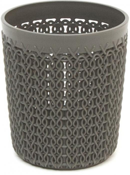 Органайзер для мелочей Curver Knit, цвет: темно-коричневый, 0,6 л00775-X59-00Органайзер круглый KNIT, объем 0,6 л, темно-коричневый.