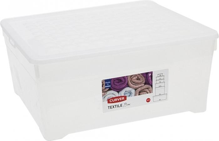 Ящик для хранения Curver Textile, цвет: прозрачный, 18,5 л ящик для хранения branq optima город 30 л
