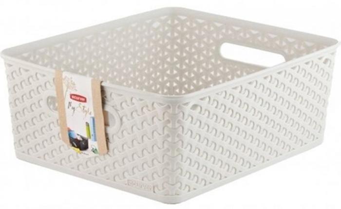 Коробка для хранения Curver My Style, цвет: кремовый, M, 13 л коробка для хранения curver my style цвет темно коричневый 25 5 х 20 х 11 см