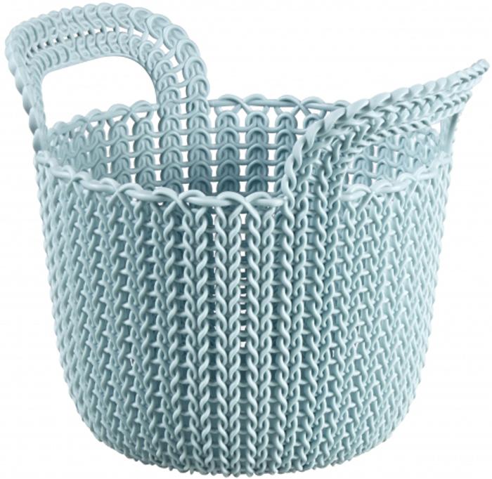 Корзина универсальная Curver Knit, цвет: голубой, 3 л. 03671-X60-0003671-X60-00Корзина Curver Knit изготовлена из прочной цветной пластмассы. Она отлично подойдет для хранения белья, вещей и мелочей.