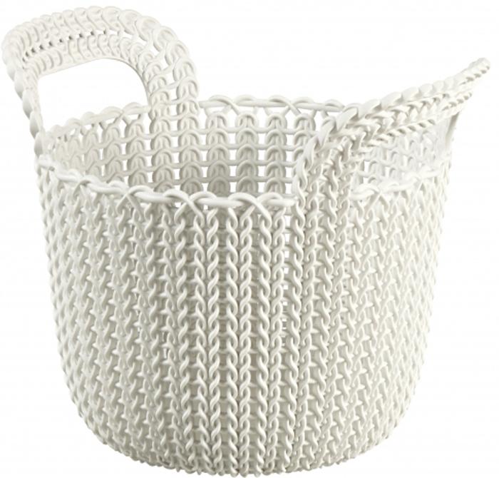 Корзина универсальная Curver Knit, цвет: белый, XS, 3 л. 03671-X64-0003671-X64-00Корзина круглая KNIT, размер: XS, объем 3 л, белая.