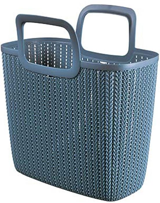 Сумка хозяйственная Curver Knit, цвет: синий, 25 л03672-X60-00Стильная хозяйственная сумка Curver Knit - это практичное дополнение для ежедневных покупок. Изделие выполнено из пластика. Сумка имеет удобные ручки.