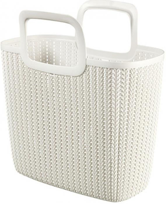 """Стильная хозяйственная сумка Curver """"Knit"""" - это практичное дополнение для ежедневных покупок. Изделие выполнено из пластика. Сумка имеет удобные ручки."""