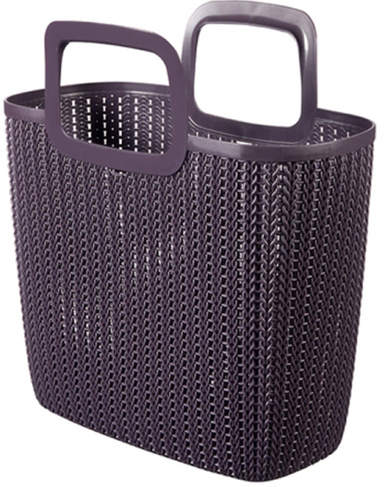 Сумка хозяйственная Curver Knit, цвет: фиолетовый, 25 л03672-X66-00Стильная хозяйственная сумка Curver Knit - это практичное дополнение для ежедневных покупок. Изделие выполнено из пластика. Сумка имеет удобные ручки.
