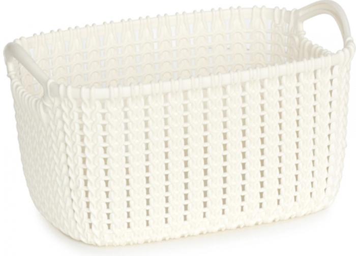 Корзина универсальная Curver Knit, цвет: белый, 8 л03674-X64-00Универсальная корзина Curver Knit изготовлена извысококачественного пластика и оформлена декоративной перфорацией под плетение. Для дополнительного удобства корзина имеет удобные ручки.Такая корзина непременно пригодится в быту, в ней можно хранить кухонные принадлежности, специи, аксессуары для ванной и другие бытовые предметы.