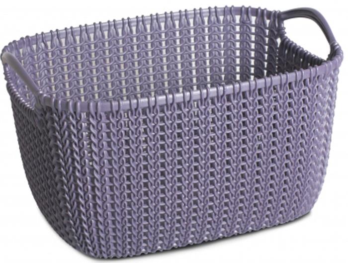 Корзина универсальная Curver Knit, цвет: фиолетовый, 8 л03674-X66-00Универсальная корзина Curver Knit изготовлена извысококачественного пластика и оформлена декоративной перфорацией под плетение. Для дополнительного удобства корзина имеет удобные ручки.Такая корзина непременно пригодится в быту, в ней можно хранить кухонные принадлежности, специи, аксессуары для ванной и другие бытовые предметы.
