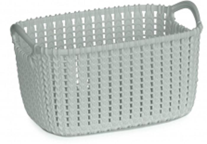 """Корзина Curver """"Knit"""" изготовлена из прочной цветной пластмассы. Она отлично подойдет для хранения белья, вещей и мелочей."""
