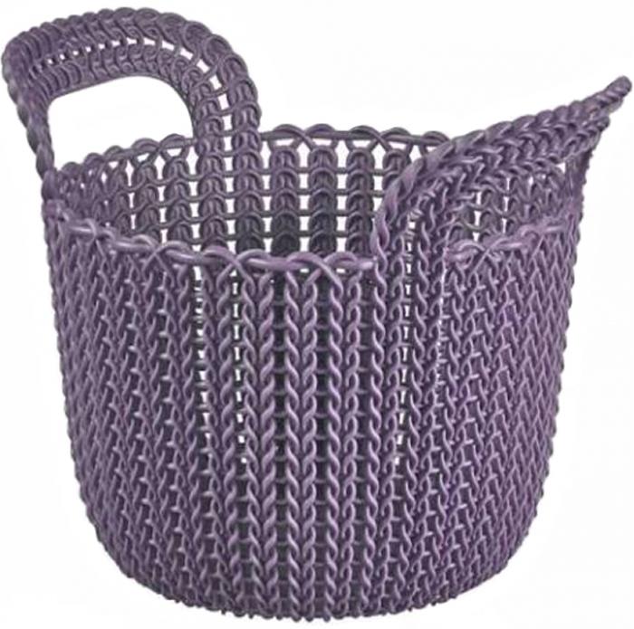 Корзина универсальная Curver Knit, цвет: фиолетовый, XS, 3 л keter knit xs белый синий темн коричневый фиолетовый морск волны