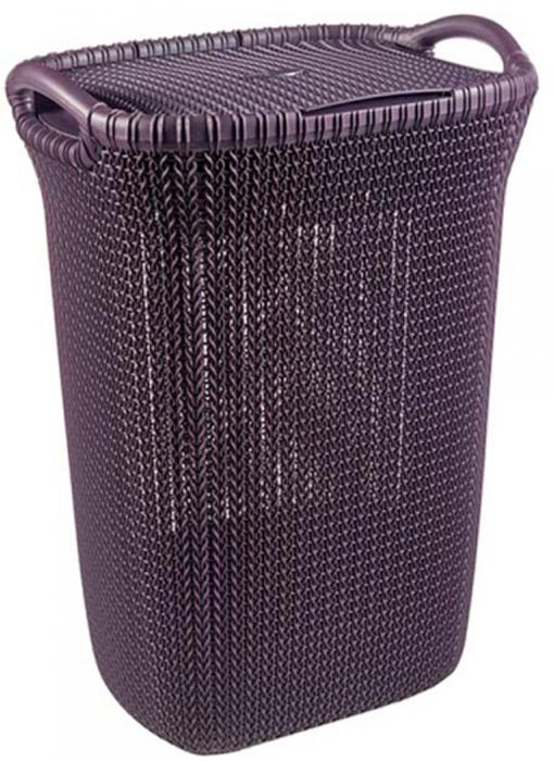 Корзина универсальная Curver Knit, цвет: фиолетовый, 57 л03676-X66-00Универсальная корзина Curver Knit изготовлена извысококачественного пластика и оформлена декоративной перфорацией под плетение. Для дополнительного удобства корзина имеет удобные ручки и крышку.Такая корзина непременно пригодится в быту, в ней можно хранить кухонные принадлежности, специи, аксессуары для ванной и другие бытовые предметы.