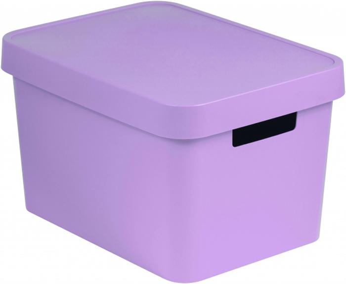 Коробка для хранения Curver Infinity, с крышкой, цвет: розовый, 17 л04743-X51-00Коробка INFINITY с крышкой, объем 17 л, розовая.