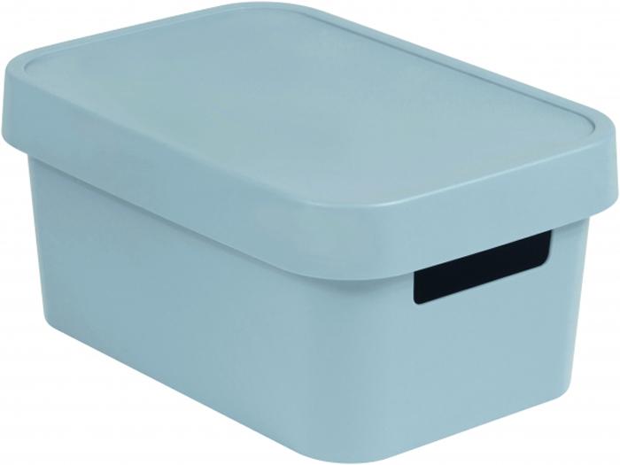 Коробка для хранения Curver Infinity, с крышкой, цвет: серый, 4,5 л04746-099-00Коробка для хранения Curver Infinity выполнена из высококачественного пластика. Изделие оснащено крышкой и двумя эргономичными ручкамидля переноски. Коробка для хранения Curver Infinity очень удобна и поможет вам хранить необходимые вещи в одном месте.