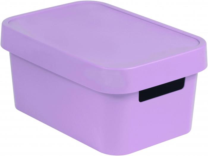 """Коробка для хранения Curver """"Infinity"""", с крышкой, цвет: сиренево-розовый, 4,5 л"""