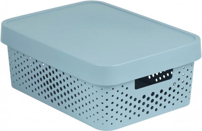 Коробка для хранения Curver Infinity, перфорированная, с крышкой, цвет: серый, 11 л04753-099-00Коробка перфорированная - практичная и вместительная ёмкость дляхранения всевозможных мелочей. Изготовлена из нетоксичного качественногопластика, объем - 11 литров. Серый цвет и прямые линии делают изделиестильным и универсальным. Оно отлично впишется в любой дизайн ваннойкомнаты, гостиной, прихожей, гардеробной или спальни. В ней удобно хранитькосметику, аксессуары для рукоделия, детские игрушки, овощи и фрукты имногое другое. За счёт отверстий корзина хорошо вентилируется, поэтомуможно её использовать и для белья..