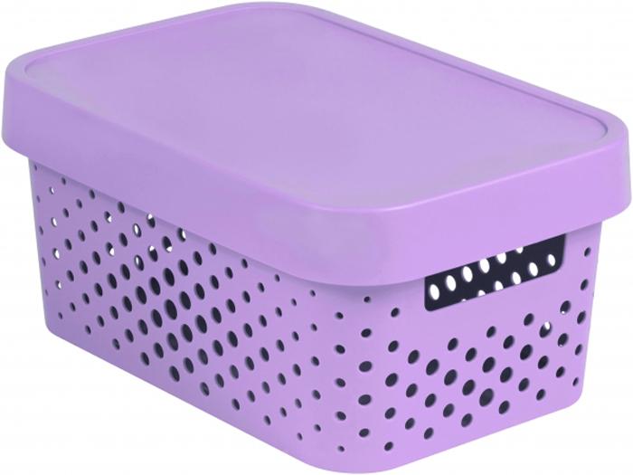 Коробка для хранения Curver Infinity, перфорированная, с крышкой, цвет: розовый, 4,5 л04760-X51-00Коробка INFINITY перфорированная, с крышкой, объем 4,5 л, розовая.