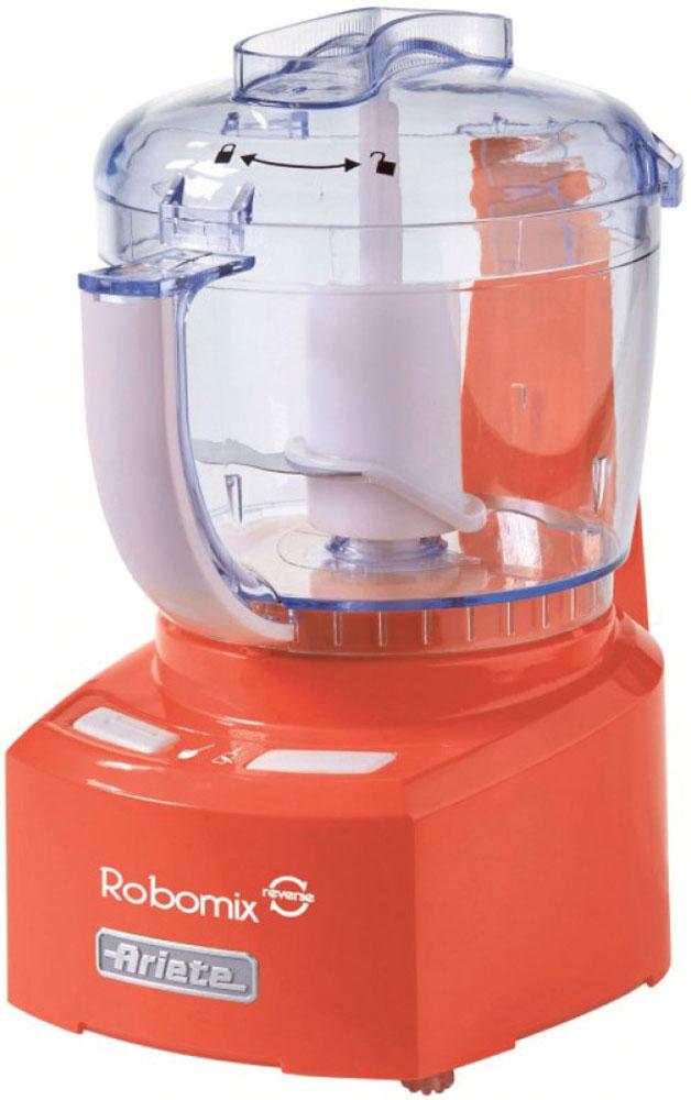 Ariete 1767 Robomix Reverce, Orange кухонный комбайн1767_OrangeКомпактный и функциональный кухонный комбайн Ariete 1767 Robomix Reverce станет вашим идеальный помощником на кухне на все случаи жизни. Прибор оснащен мощным мотором и сменными насадками, благодаря чему позволяет эффективно измельчать и смешивать различные типы продуктов. Также кухонный комбайн имеет функцию реверса.В комплектацию входят:Ножи для измельченияНасадка-ограничитель для измельчения малого количества продуктовНасадка-диск для взбивания