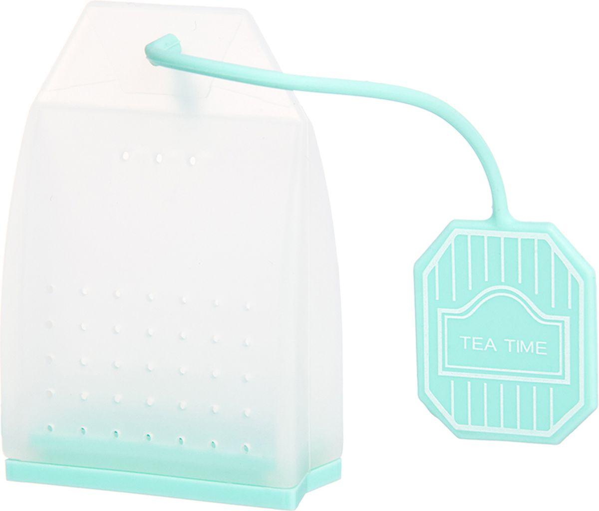 Ситечко для чая Elan Gallery Пакетик, цвет: белый, мятный, 4,5 х 6,7 х 2 см900059Силиконовое ситечко для заварки чая и трав прекрасно подойдет всем любителям чая. Ситечко довольно вместительное, с удобным силиконовым шнурком. Размер 4х3,3х5 см.