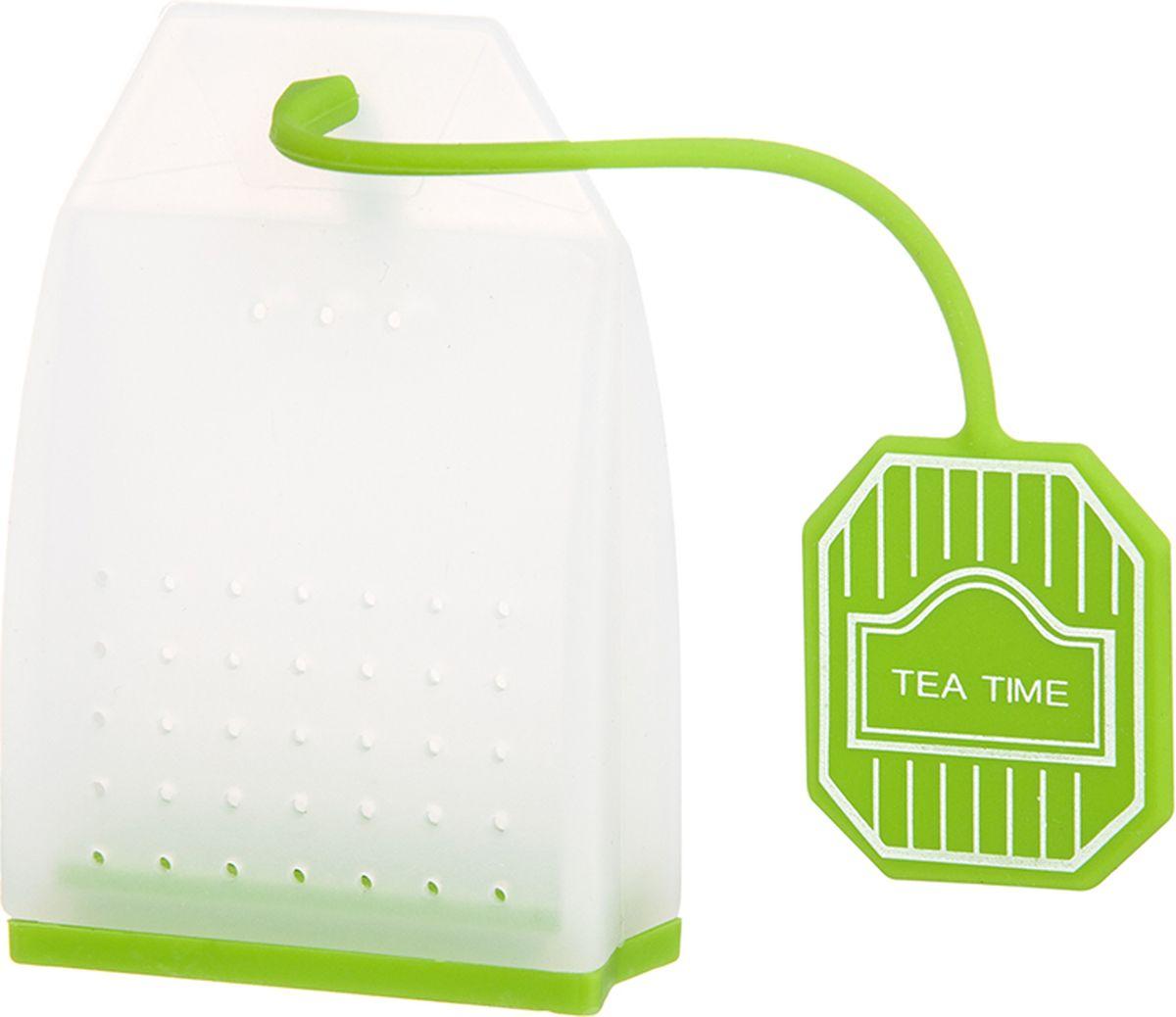 Ситечко для чая Elan Gallery Пакетик, цвет: белый, салатовый, 4,5 х 6,7 х 2 см900063Силиконовое ситечко для заварки чая и трав прекрасно подойдет всем любителям чая. Ситечко довольно вместительное, с удобным силиконовым шнурком. Размер 4х3,3х5 см.