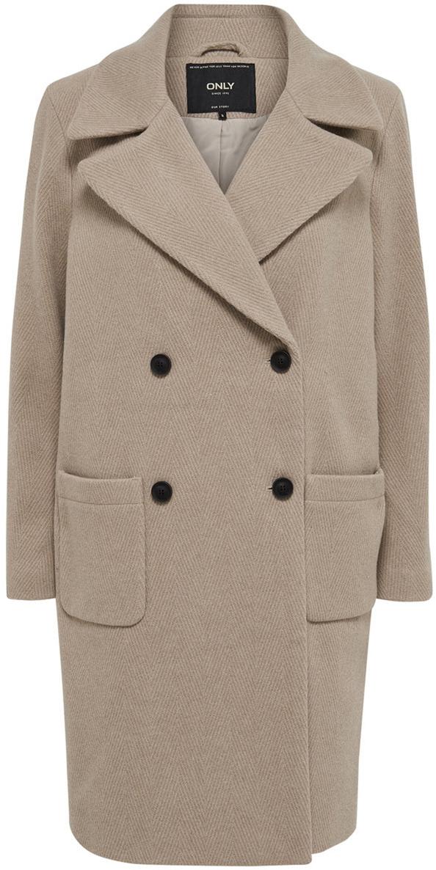 Пальто жен Only, цвет: серый. 15137939_Pumice Stone. Размер L (48)15137939_Pumice Stone