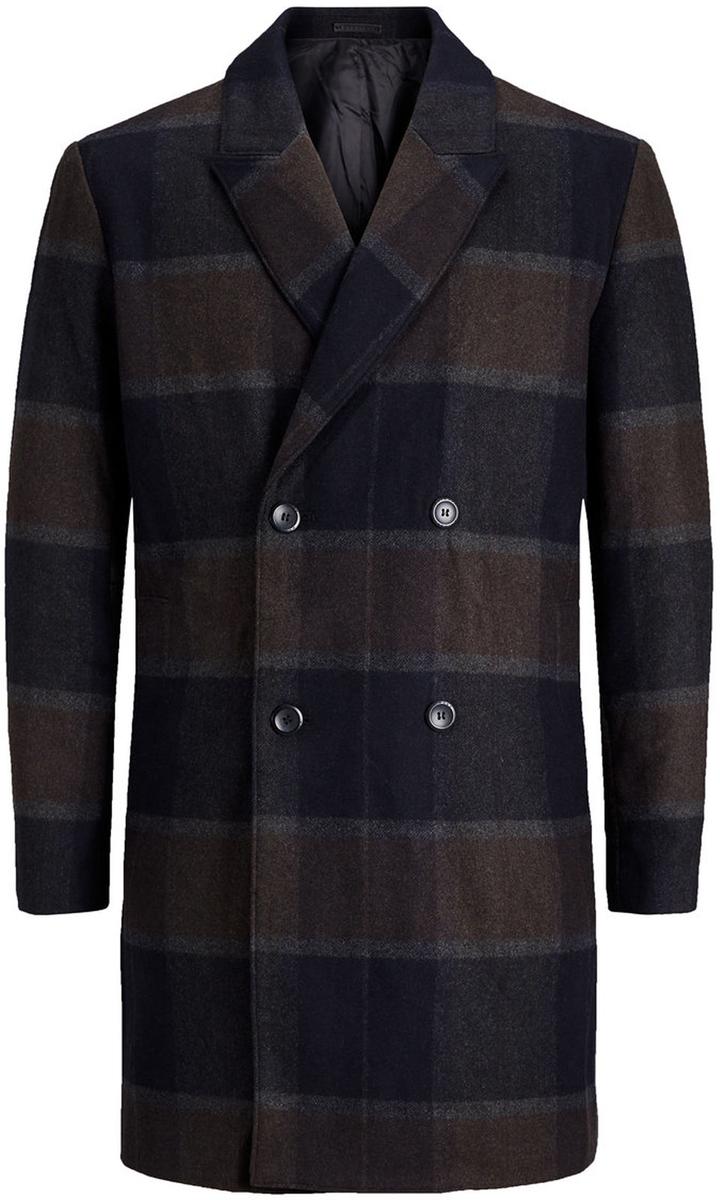Пальто мужское Jack & Jones, цвет: темно-серый. 12127422_Dark Grey Melange. Размер M (46/48)