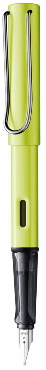 Lamy Ручка перьевая Al-Star синяя цвет корпуса зеленый толщина F4030062Алюминиевая версия культовой модели LAMY Safari под названием LAMY Al-star. Корпус и колпачок из анодированного алюминия. Эргономичный хват, позволяющий пальцам принять правильное положение при письме. Изготовлен из прозрачного пластика.Металлический клип на колпачке напоминает по форме канцелярскую скрепку. Окошко на корпусе позволяет контролировать расход чернил. Стальное заменяемое перо. Перьевая ручка используется с чернильными картриджами LAMY T10 или с конвертером LAMY Z28 для заправки чернилами из флакона LAMY T51 или LAMY T52. Комплектация: Подарочная коробка, чернильный картридж синего цвета LAMY T10, инструкция. Дизайн: Вольфганг Фабиан. Награда за дизайн: iF Hannover. История бренда LAMY насчитывает более 80-ти лет, а его философия заключается в слогане Дизайн. Сделано в Германии. Компания получила более 100 самых престижных дизайнерских наград. Все пишущие инструменты LAMY производятся на фабрике в Гейдельберге (Германия).