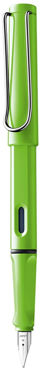 Lamy Ручка перьевая Safari синяя цвет корпуса зеленый толщина M4030634Самая популярная ручка бренда Lamy. Создана в 1980 году в коллаборации с дизайнерами и психологами специально для подростков. Сейчас трудно найти в Европе школу или университет, где не писали бы Lamy Safari. В 80-е дизайн этой ручки многим казался немного странным, ни на что непохожим, что, вероятно, и привлекло молодежь, которую уже не устраивал традиционный дизайн обычных ручек. Lamy Safari хорошо показала себя в деле: ручка пишет практически без нажима, ее эргономика такова, что рука не устает даже от долгого письма. Сейчас этими ручками пишут и рисуют, а также их коллекционируют – помимо широкой гаммы постоянных цветов, каждый год выходит лимитированный выпуск ручек в самом модном цвете.Выполнена из прочного ABS пластика. Эргономичный хват, позволяющий пальцам принять правильное положение при письме. Металлический клип на колпачке напоминает по форме канцелярскую скрепку. Окошко на корпусе позволяет контролировать расход чернил. Стальное заменяемое перо.Перьевая ручка используется с чернильными картриджами Lamy T10 или с конвертером Lamy Z28 для заправки чернилами из флакона Lamy T51 или Lamy T52.Комплектация: подарочная коробка, чернильный картридж синего цвета Lamy T10, инструкция. Дизайн: Вольфганг Фабиан. Награда за дизайн: iF Hannover. История бренда Lamy насчитывает более 80-ти лет, а его философия заключается в слогане Дизайн. Сделано в Германии. Компания получила более 100 самых престижных дизайнерских наград. Все пишущие инструменты LAMY производятся на фабрике в Гейдельберге (Германия).