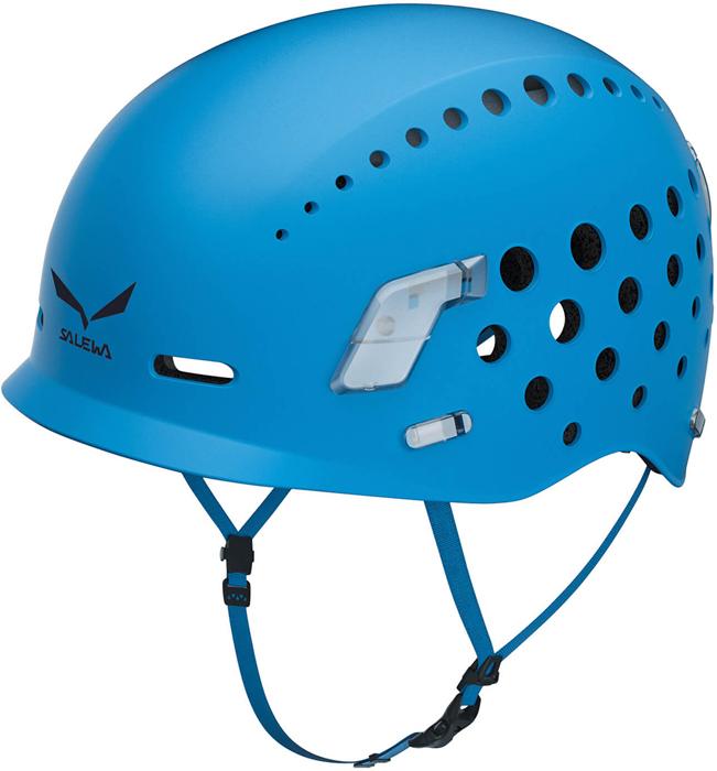 Особенности: - полипропиленовый корпус, - внутренняя амортизационная часть из мягкой пены EPS, - внутри с мягким пенным покрытием EVA, - вентиляционные отверстия большого диаметра, - удобная система регулировки, - 4 точки для крепления фонариков и светоотражателей, - козырек для дополнительной защиты лица, - регулировочное колесо удобно подстраивать одной рукой, - съемная внутренняя часть каски легко моется. Размеры S/M: обхват 48-58 см. Сертификация: EN 12492, UIAA 106.